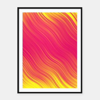 Thumbnail image of Stripes Wave Pattern 10 pyi Framed poster, Live Heroes