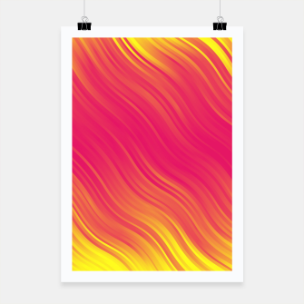 Thumbnail image of Stripes Wave Pattern 10 pyi Poster, Live Heroes