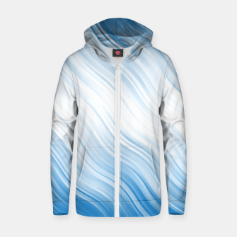 Thumbnail image of Stripes Wave Pattern 10 wb Zip up hoodie, Live Heroes