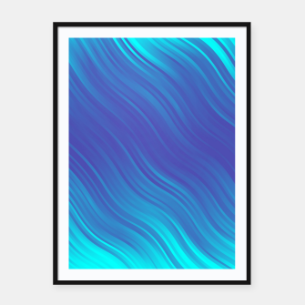 Thumbnail image of Stripes Wave Pattern 10 bti Framed poster, Live Heroes