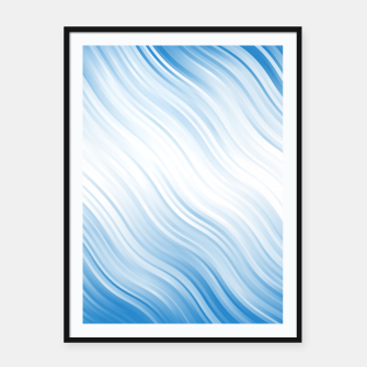 Thumbnail image of Stripes Wave Pattern 10 wb Framed poster, Live Heroes