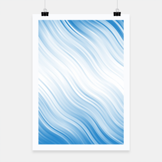 Thumbnail image of Stripes Wave Pattern 10 wb Poster, Live Heroes