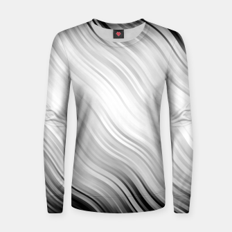 Stripes Wave Pattern 10 bw Women sweater thumbnail image