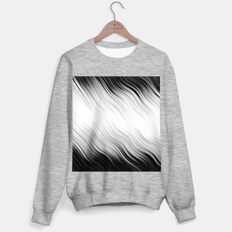 Stripes Wave Pattern 10 bw Sweater regular thumbnail image