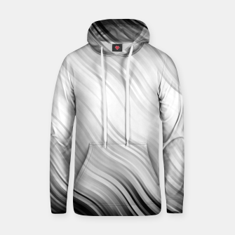 Stripes Wave Pattern 10 bw Hoodie thumbnail image