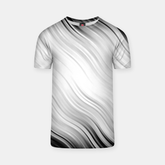 Stripes Wave Pattern 10 bw T-shirt thumbnail image