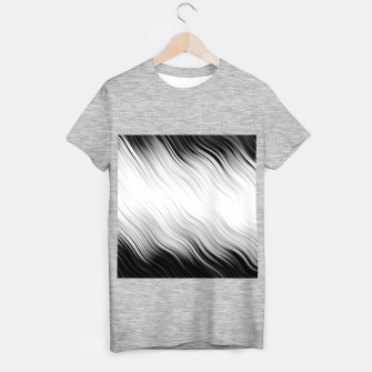 Stripes Wave Pattern 10 bw T-shirt regular thumbnail image