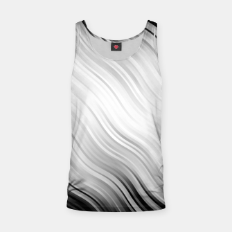 Stripes Wave Pattern 10 bw Tank Top thumbnail image
