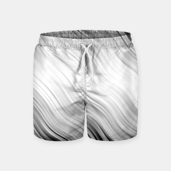 Stripes Wave Pattern 10 bw Swim Shorts thumbnail image