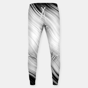 Stripes Wave Pattern 10 bw Sweatpants thumbnail image