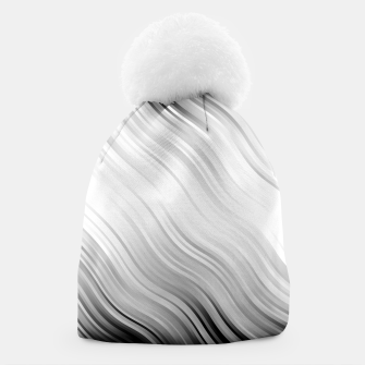 Stripes Wave Pattern 10 bw Beanie thumbnail image