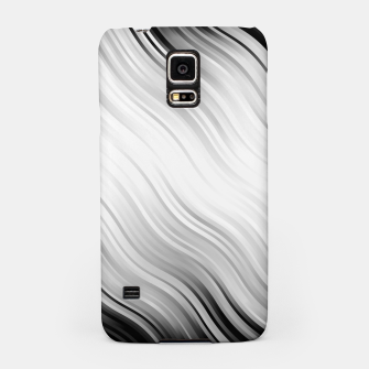 Stripes Wave Pattern 10 bw Samsung Case thumbnail image
