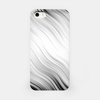 Stripes Wave Pattern 10 bw iPhone Case thumbnail image