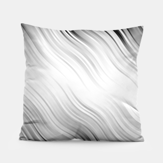Stripes Wave Pattern 10 bw Pillow thumbnail image