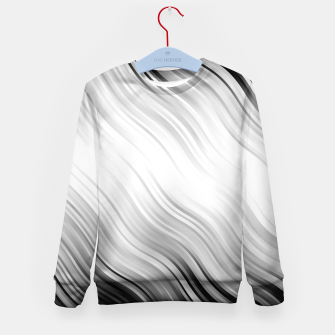 Stripes Wave Pattern 10 bw Kid's sweater thumbnail image