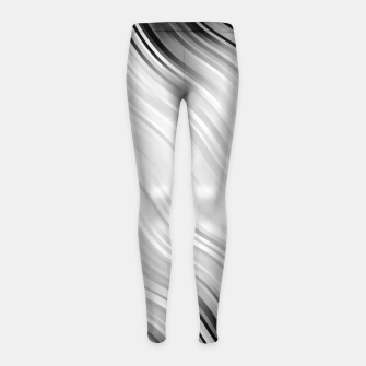 Stripes Wave Pattern 10 bw Girl's leggings thumbnail image