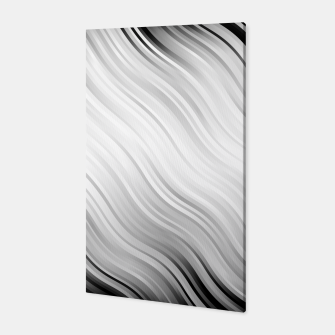 Stripes Wave Pattern 10 bw Canvas thumbnail image