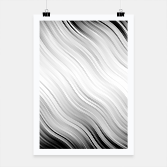 Stripes Wave Pattern 10 bw Poster thumbnail image