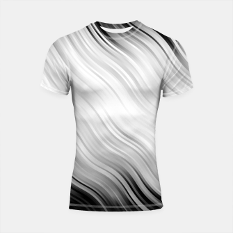 Stripes Wave Pattern 10 bw Shortsleeve rashguard thumbnail image