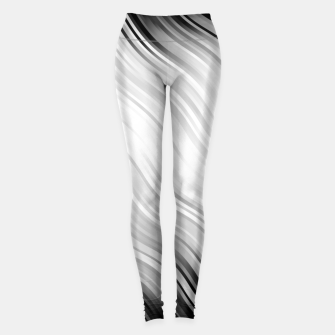 Stripes Wave Pattern 10 bw Leggings thumbnail image
