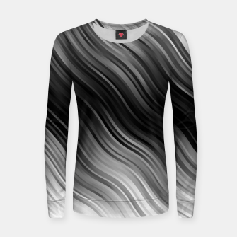 Thumbnail image of Stripes Wave Pattern 10 bwi Women sweater, Live Heroes