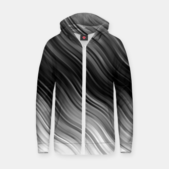 Thumbnail image of Stripes Wave Pattern 10 bwi Zip up hoodie, Live Heroes
