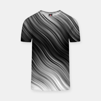 Thumbnail image of Stripes Wave Pattern 10 bwi T-shirt, Live Heroes