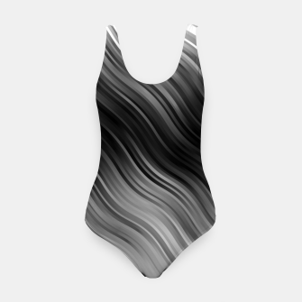 Thumbnail image of Stripes Wave Pattern 10 bwi Swimsuit, Live Heroes