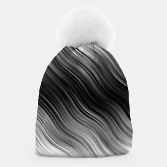 Stripes Wave Pattern 10 bwi Beanie miniature