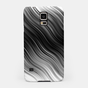 Stripes Wave Pattern 10 bwi Samsung Case miniature