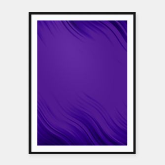 Thumbnail image of Stripes Wave Pattern 10 pb Framed poster, Live Heroes
