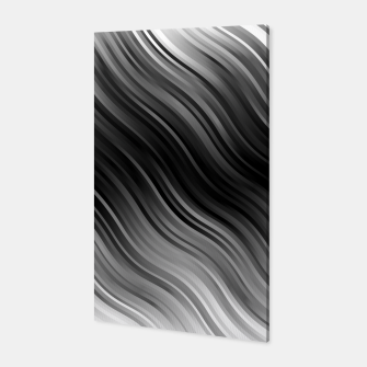 Stripes Wave Pattern 10 bwi Canvas miniature