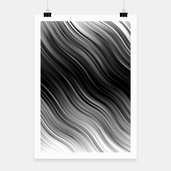 Thumbnail image of Stripes Wave Pattern 10 bwi Poster, Live Heroes