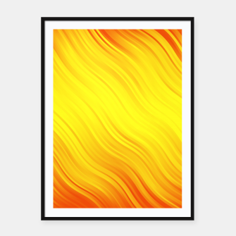 Thumbnail image of Stripes Wave Pattern 10 yo Framed poster, Live Heroes