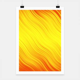 Thumbnail image of Stripes Wave Pattern 10 yo Poster, Live Heroes
