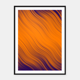 Thumbnail image of Stripes Wave Pattern 10 po Framed poster, Live Heroes