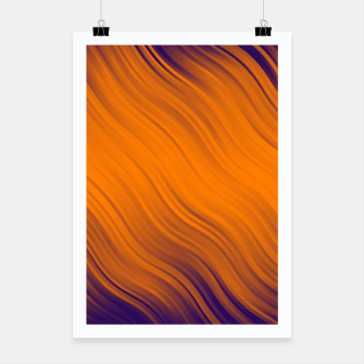 Thumbnail image of Stripes Wave Pattern 10 po Poster, Live Heroes