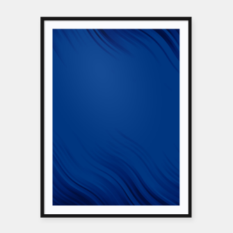 Stripes Wave Pattern 10 db Framed poster thumbnail image