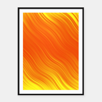 Thumbnail image of Stripes Wave Pattern 10 yoi Framed poster, Live Heroes