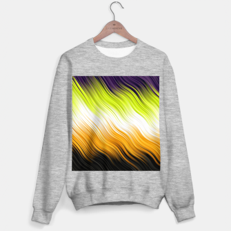 Stripes Wave Pattern 10 std Sweater regular thumbnail image