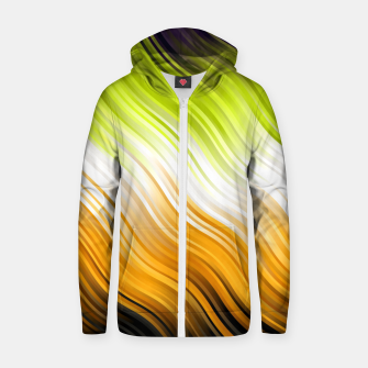 Stripes Wave Pattern 10 std Zip up hoodie thumbnail image
