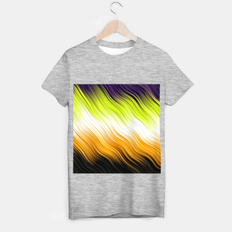 Stripes Wave Pattern 10 std T-shirt regular Bild der Miniatur