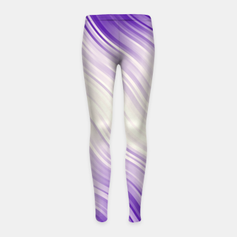 Stripes Wave Pattern 10 pp Girl's leggings miniature
