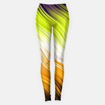 Stripes Wave Pattern 10 std Leggings miniature