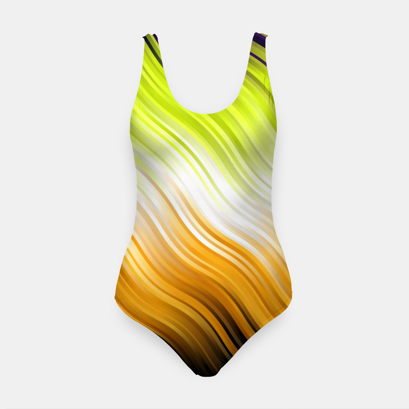 Image de Stripes Wave Pattern 10 std Swimsuit - Live Heroes