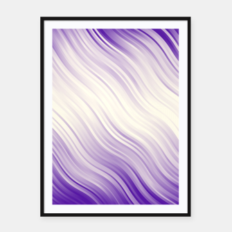 Stripes Wave Pattern 10 pp Framed poster miniature