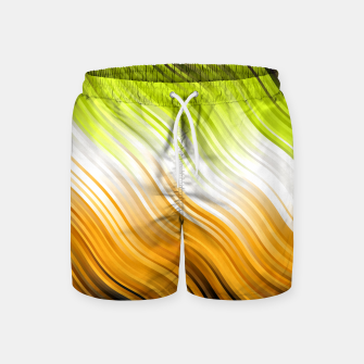 Miniatur Stripes Wave Pattern 10 std Swim Shorts, Live Heroes