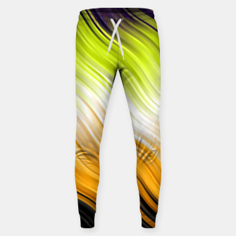Miniatur Stripes Wave Pattern 10 std Sweatpants, Live Heroes