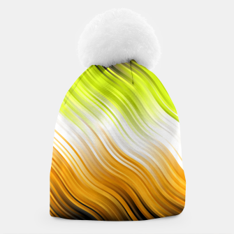 Thumbnail image of Stripes Wave Pattern 10 std Beanie, Live Heroes