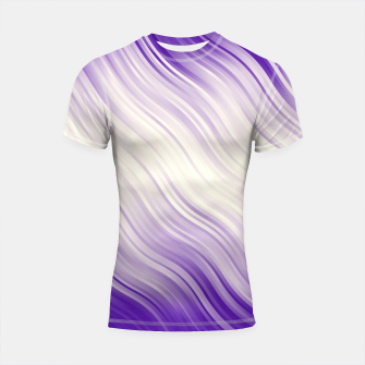 Stripes Wave Pattern 10 pp Shortsleeve rashguard miniature